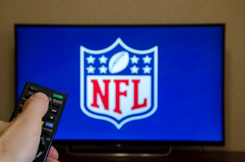 TV with NFL Logo