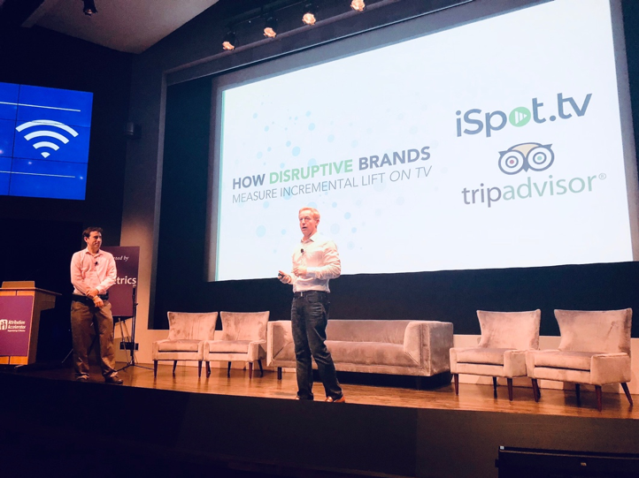 Sean presenting How Disruptive Brands Measure Lift on TV